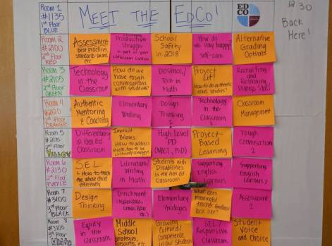 Sessions board - incredible topics.