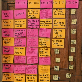 The analogue big-board.